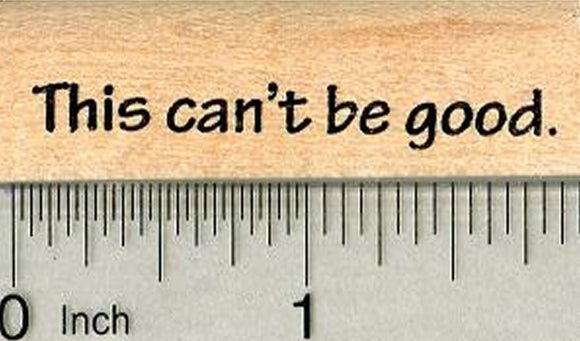 This can't be good Rubber Stamp, Groundhog day series