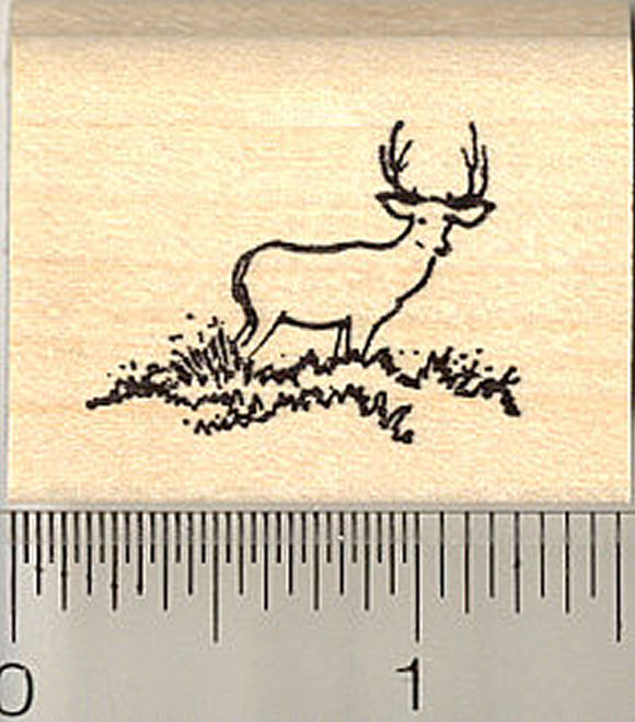 Tiny Deer in the Distance Rubber Stamp