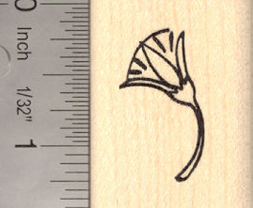Lotus Blossom Rubber Stamp