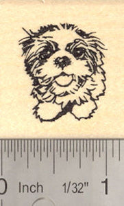 Shih Tzu Puppy Dog Rubber Stamp