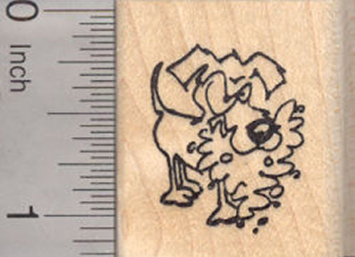 Small Mad Dog Rubber Stamp