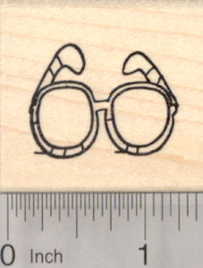 Sunglasses Rubber Stamp, Eye glasses