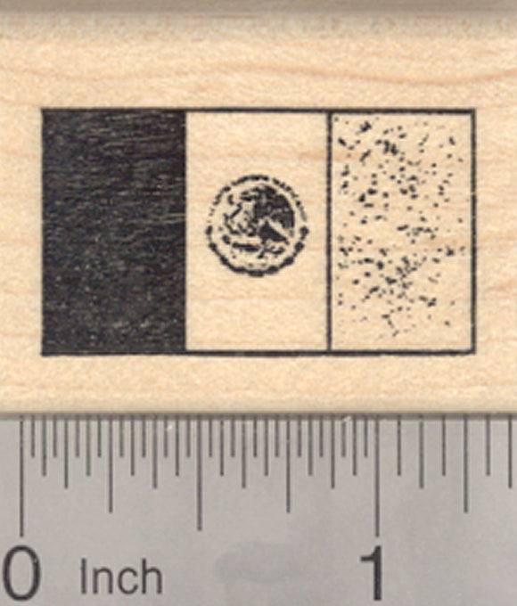 Flag of Mexico Rubber Stamp, United Mexican States