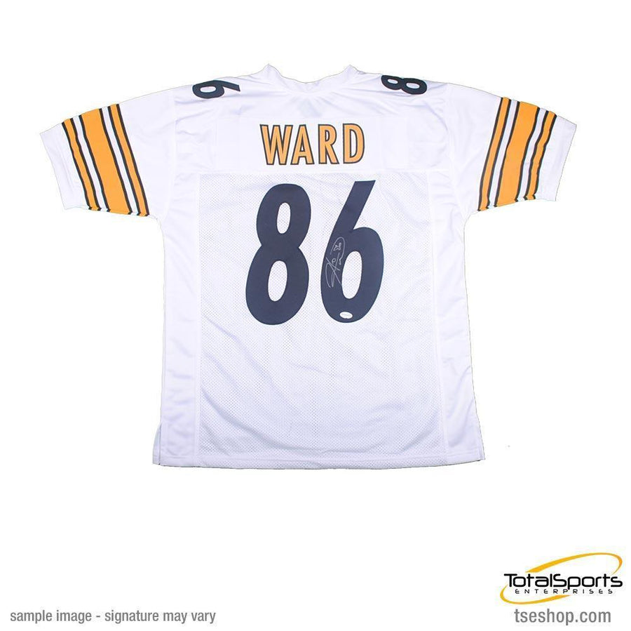 Hines Ward Autographed Pittsburgh Steelers White Custom Jersey