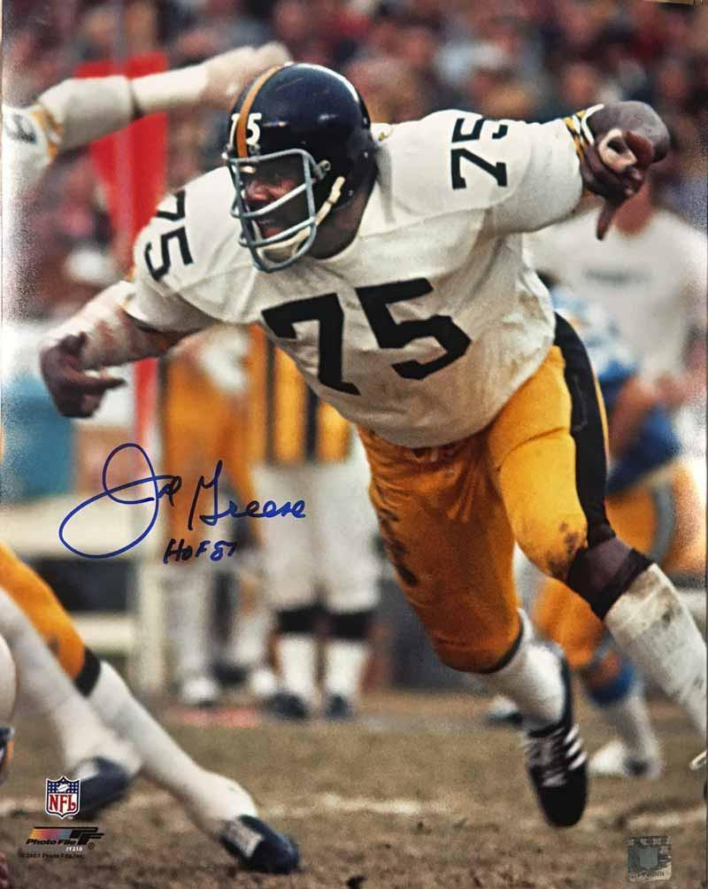 Joe Greene SIGNED Arms Out 16x20 Photo