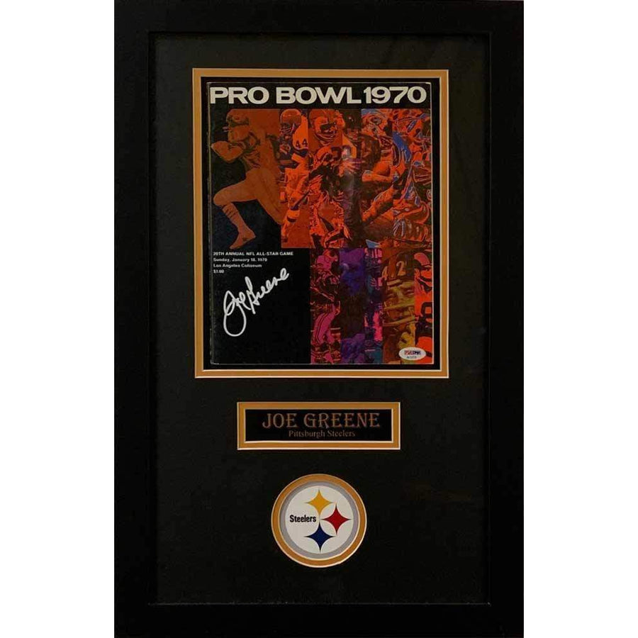 Joe Greene Signed Authentic 1970 Pro Bowl Game Program - Professionally Framed