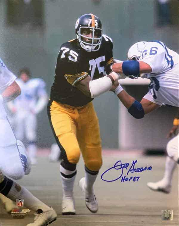 Joe Greene SIGNED Running Past Colts 16x20 Photo