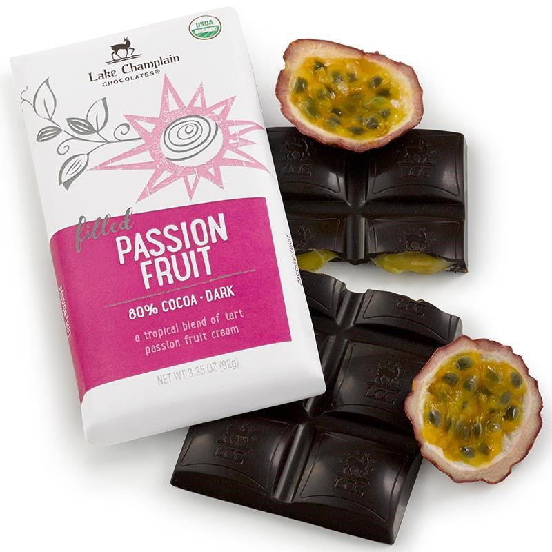 Passion Fruit Dark Chocolate Bar