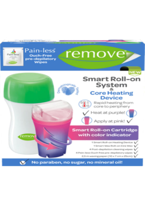 Remove Roll-on System Liposoluble Wax Kit Core Heating Device w 1 Smart Roll on-Depilatory Product-Remove-COSMEXP