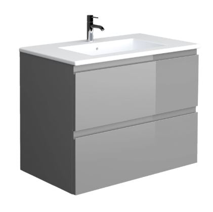 Joy Rak 2 Drawer Wall Hung Vanity Unit & Basin