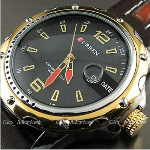 NEW FASHION CURREN BRAND MALE CLOCK MALE HAND DATE BLACK BROWN LEATHER STRAPS MENS QUARTZ WRIST WATCH 3ATM WATERPROOF WRISTWATCH