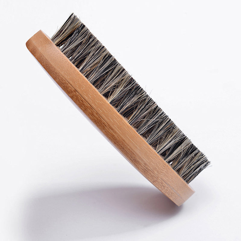 Men Hair Bristle Hard Wood Handle Beard Brush Set