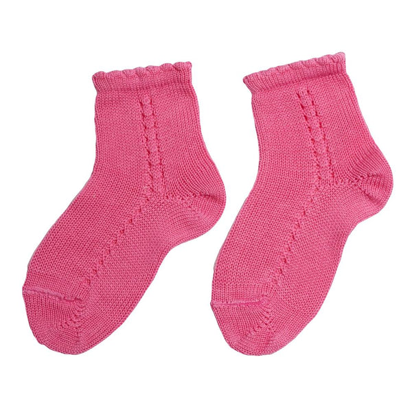 Openwork short socks Fuchsia - Socks - PEPA AND CO