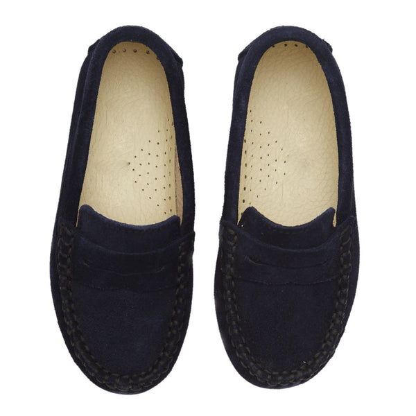 Suede Loafers Boys Shoes Navy - Shoes - PEPA AND CO