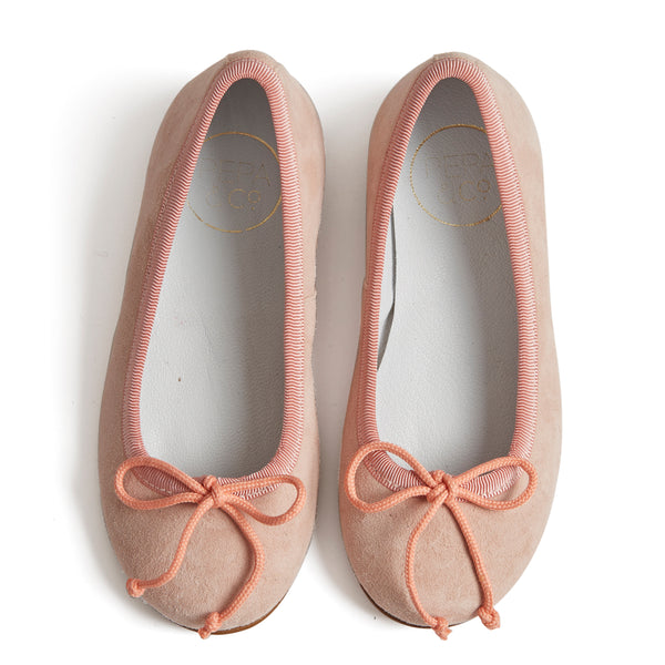 Suede Girls Ballerinas Pink - Shoes - PEPA AND CO