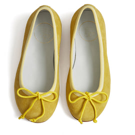 Suede Girls Ballerinas Yellow - Shoes - PEPA AND CO