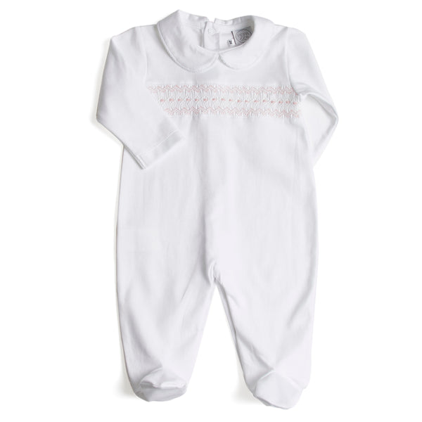 Nightwear Bodysuit Smocked in Pink - Nightwear - PEPA AND CO