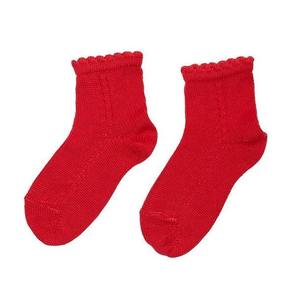 Openwork short socks - Red - Socks - PEPA AND CO