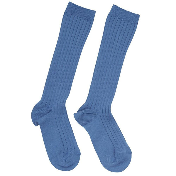 Ribbed high socks - Blue - Socks - PEPA AND CO