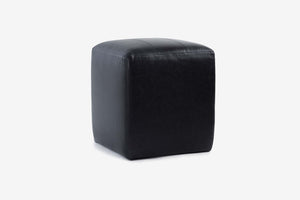 Buenos Aires Pouffe Full Leather in Black