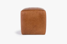 Load image into Gallery viewer, Buenos Aires Pouffe Full Leather in Cognac