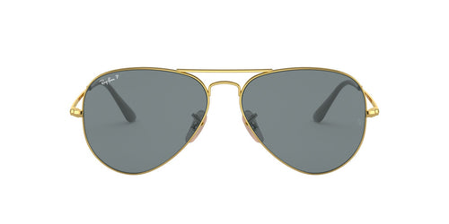 Ray-Ban RB3689 Gold / Blue Lens Solid Polarized