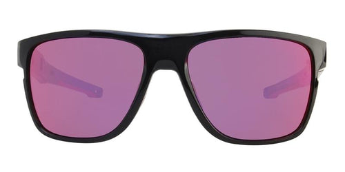 Oakley CrossRange XL Black / Purple Lens Mirror Sunglasses