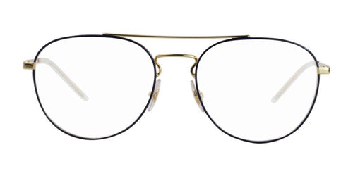 Ray-Ban RX6414 Gold Blue / Clear Lens