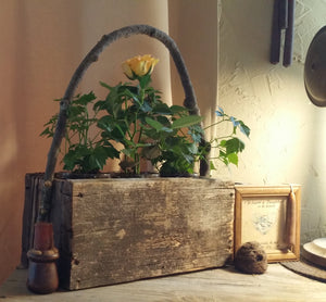 Reclaimed Wooden Flower Jar Boxes- For Stitching And  Crafting