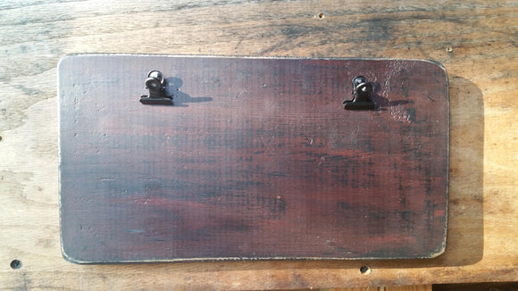 Wide and Slim- Wooden Chunky Clipboard Finishing Boards- 11