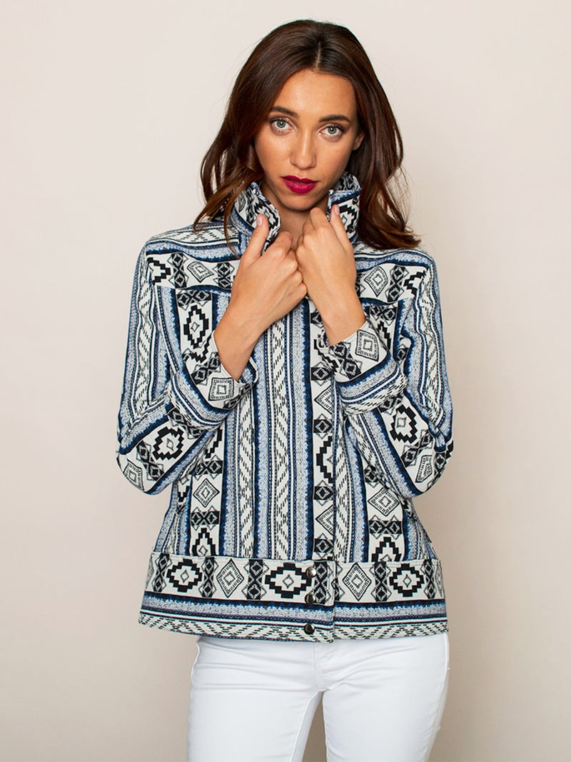 Legends & Vibes Boardwalk Geometric Jacket | Vegan Scene