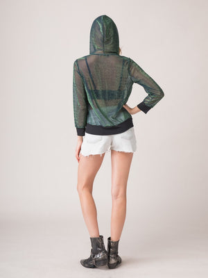 Legends & Vibes Marian Sheer Iridescent Hoodie | Vegan Scene