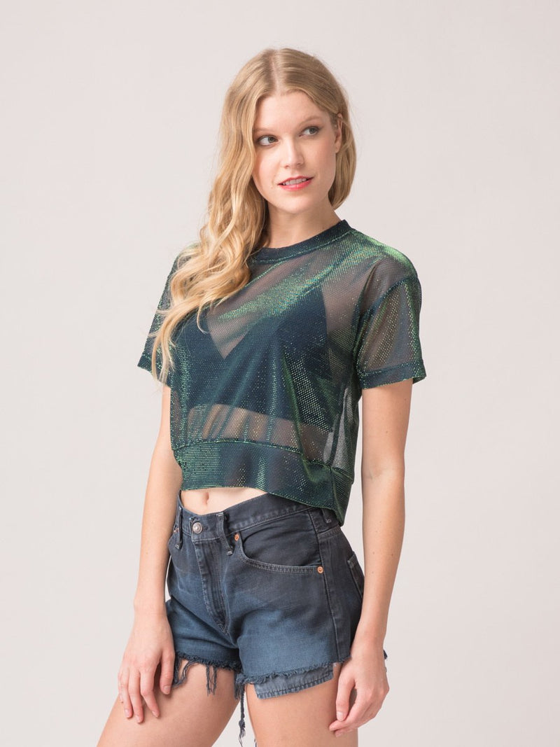 Legends & Vibes Marco Iridescent Sheer Top | Vegan Scene