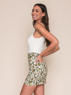 Legends & Vibes Reese Mini Skirt Cactus | Vegan Scene