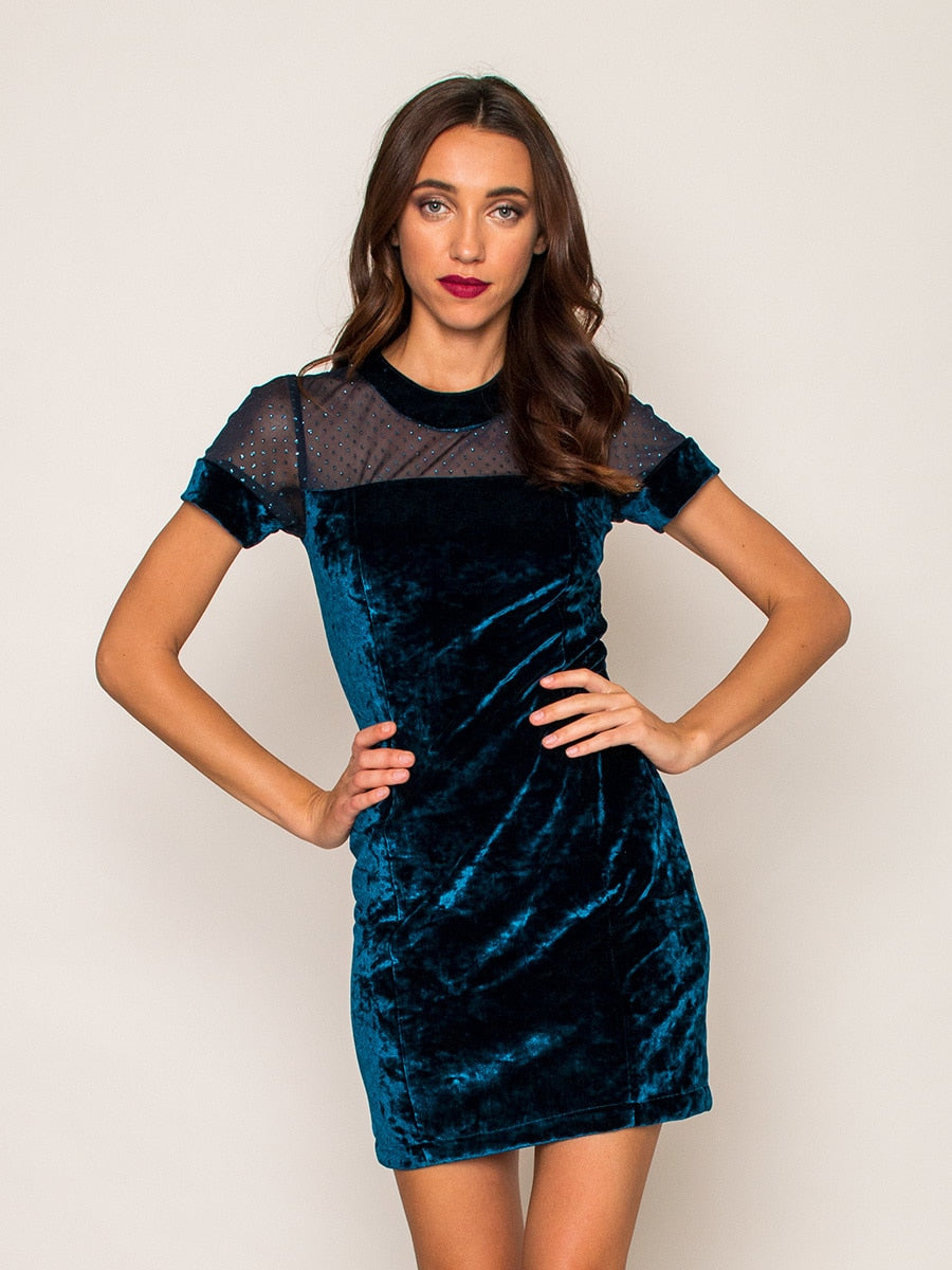 Legends & Vibes Bocca Velvet Mini Dress | Vegan Scene