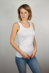 Tank top women white