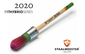 Round - Pro HYBRID Synthetic Brush - Staalmeester