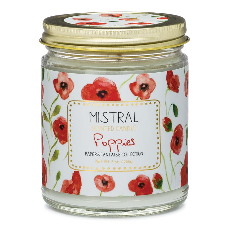Poppies Papiers Fantaisie Jar Candle