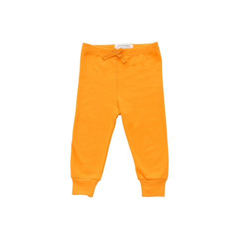 orange cozy pants