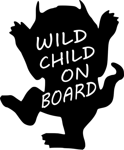 Wild Child on Board Car Decal
