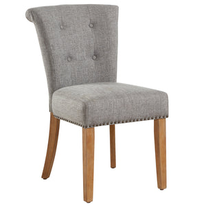 Selma Side Chair in Light Grey, 2pk