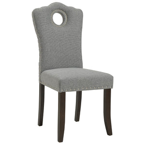 Elise Side Chair in Walnut/Light Grey (2 Pk)
