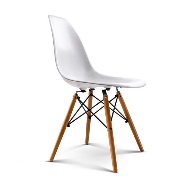 Replica Eames DSW Side Chair Set of 2 - White