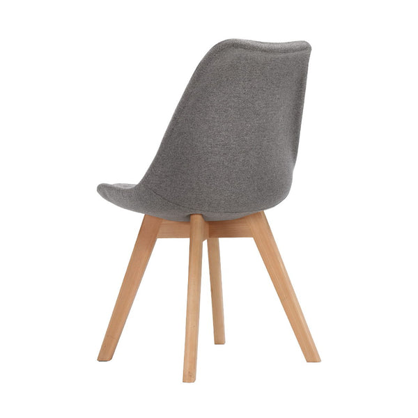 Replica Eames DSW Side Chair Set of 2 Fabric - Light Grey