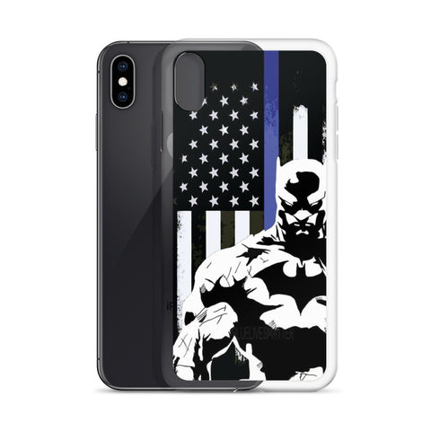 Batman Thin Blue Line iPhone Case