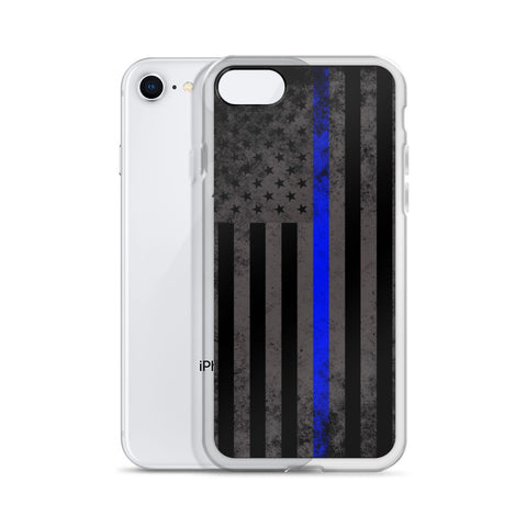 Thin Blue Line American Flag Phone Case
