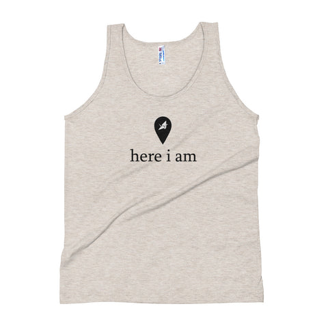 Here I Am Unisex Soft Tri-Blend Tank