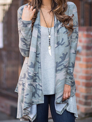 PMS Cardigans camouflage / s Camouflage  Long Sleeve Cardigans