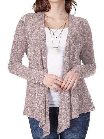 PMS Cardigans pink / s Fashion Long Sleeve Loose Knit Cardigan