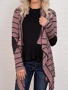 PMS Cardigans same_as_photo / s Fashion Colorful Striped Long Sleeve Cardigan